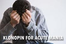 Klonopin for Acute mania