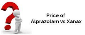 Price of Alprazolam vs Xanax